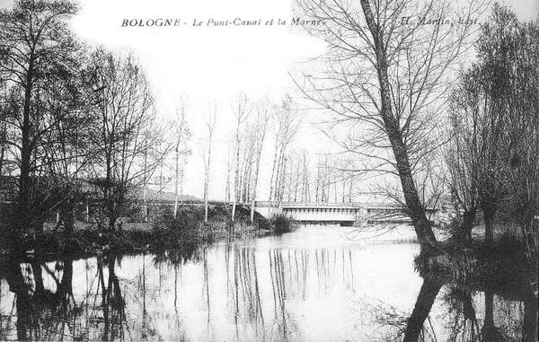 Bologne Le Pont Canal et la Marne ©