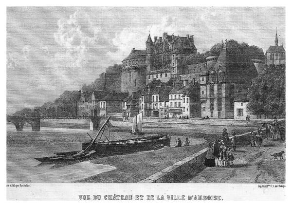 Bachelier Gravure du Chateau d' Amboise ©