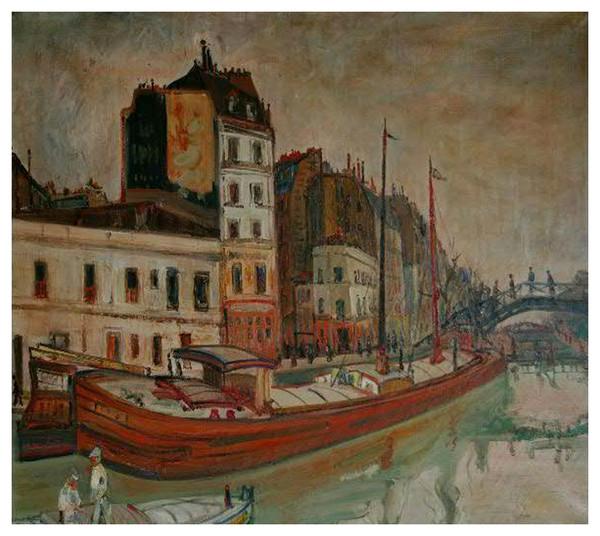 Abraham Mintchine 1898 1931  Canal Saint Martin ©