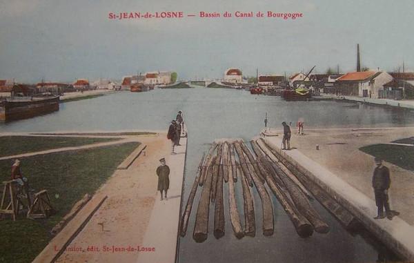 Bois Transport Saint Jean de Losne Bassin du canal ©