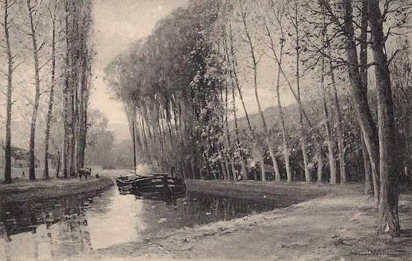 Andre DELAISTRE   Au bord du canal -Moret ©