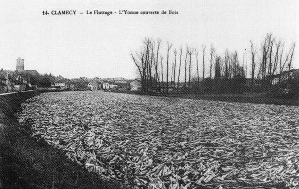 Bois Transport Clamecy Le flottage ©