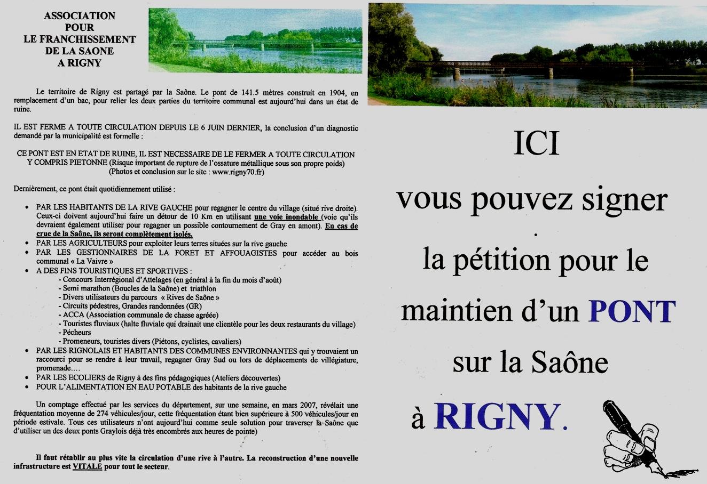 Association pour le Franchissement de la Saône à Rigny