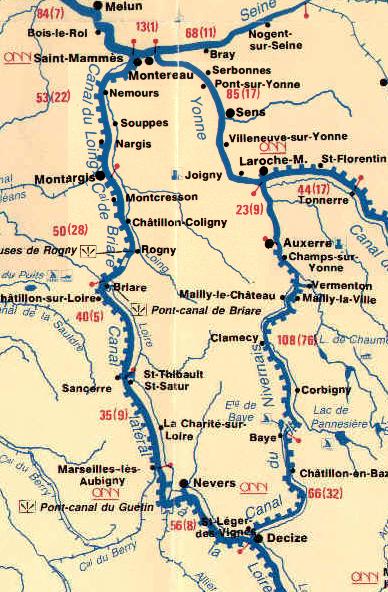 canal de briare carte 07 . CANAL DE BRIARE