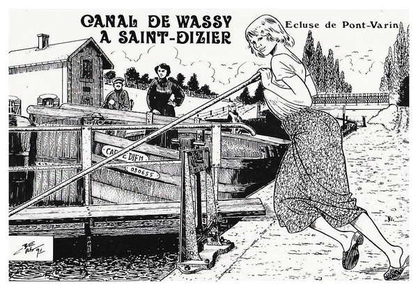 BERG Charles Canal Wassy Saint Dizier Ecluse Pont Varin ©